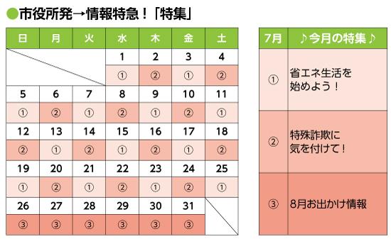 2020年7月号|市役所発→情報特急「特集」