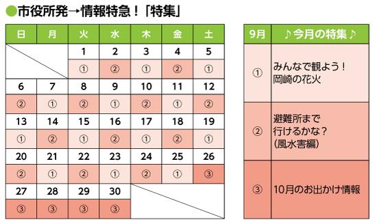 2020年9月号|市役所発→情報特急「特集」