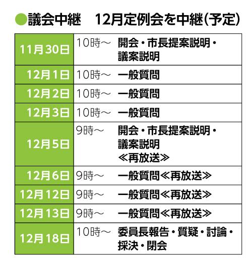 【議会中継|12月定例会】
