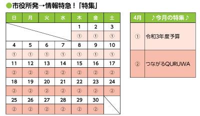 市役所発→情報特急!「特集」 2021年4月